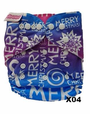 Reusable Cloth Diaper (Standard size)- Xmas