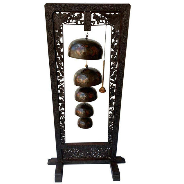 Chinese Free Standing Handcrafted Gong