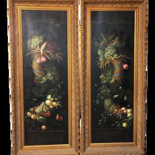 Pair of Floral Paintings