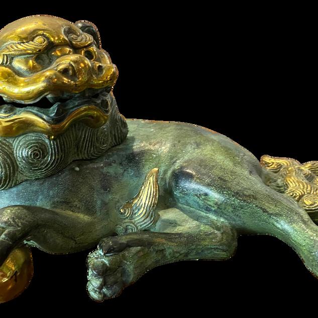 Chinese Bronze Pho Dog Statue