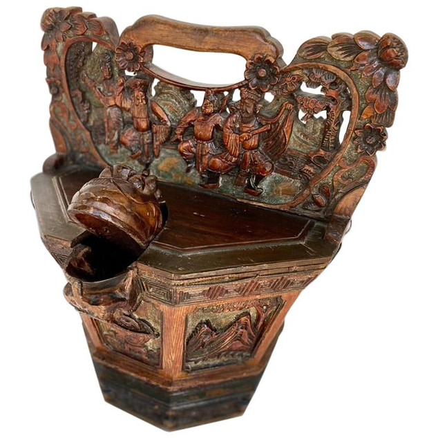Antique Ornamental Chinese Water Bucket