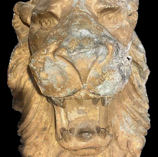 Metal Lion Head Wall Sculpture