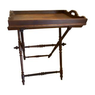English Mahogany Folding Butler's Table