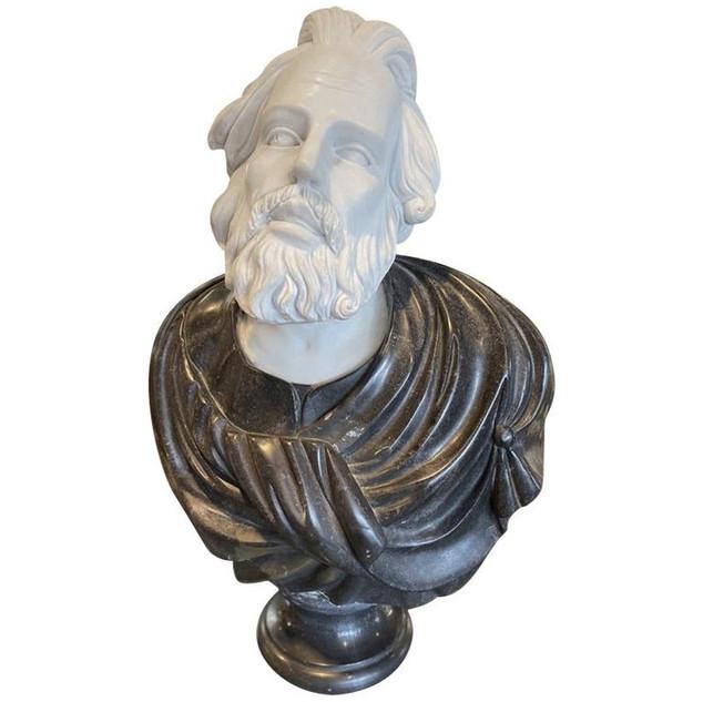 Marble Bust of Caesar Marco Aurelio Imperatore
