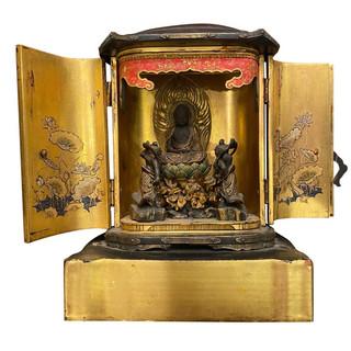Japanese Traveling Shrine Zushi Buddhism Temple