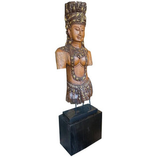 Southeast Asian Standing Chief Statue