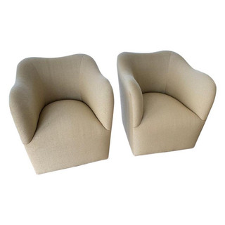 "Pair of J. Robert Scott ""The Wave"" Armchairs"