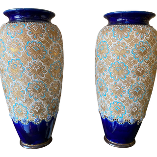 English Royal Daulton Vases a Pair