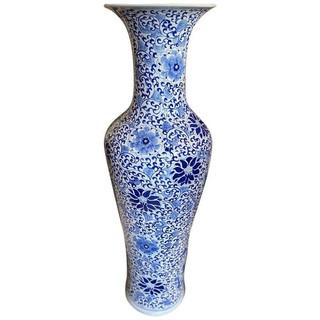 Chinese Blue on White Palace Vase