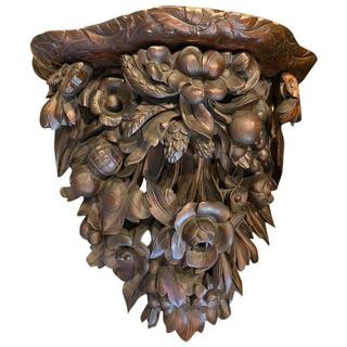 European Ex Large Wooden Sconce