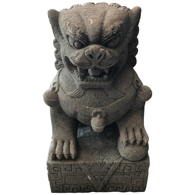 Chinese Stone Foo Guard Dog Garden Ornament
