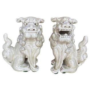 Antique Pair of Shi Shi Foo Dogs