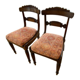 Pair of English Antique Regency Side Chairs