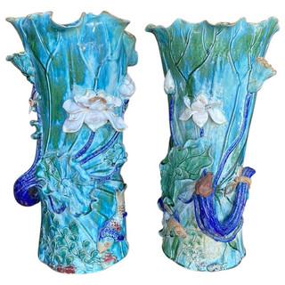 Chinese PAIR of Monumental Vases