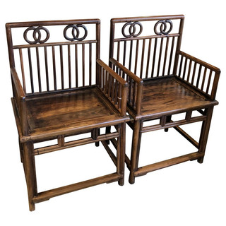 Pair Chinese Armchairs