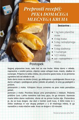 RECEPTI - Peka domačega mlečnega kruha.p