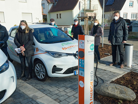 E-Carsharing Station in Lampertheim Hofheim