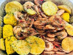 boiled shrimp corn potato