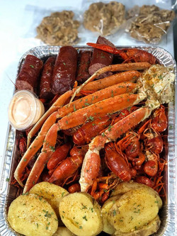 crab legs sausage crawfish