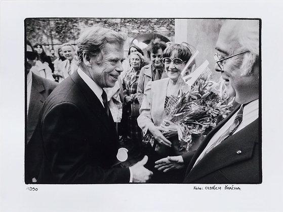 V. Havel - Setkání s manželi Škvoreckými