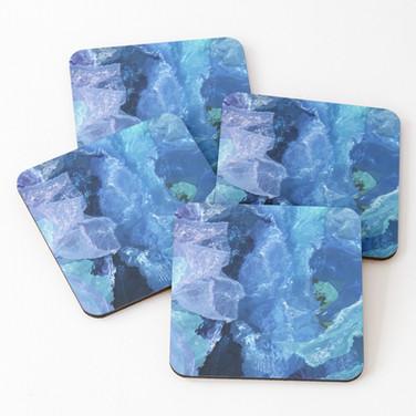 Purple Amethyst coasters-(set-of-4)