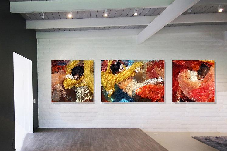 Entangled triptych
