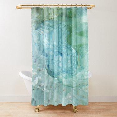 Blue Hydrangea shower-curtain