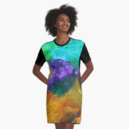 Mr. Cellophane graphic shirt dress