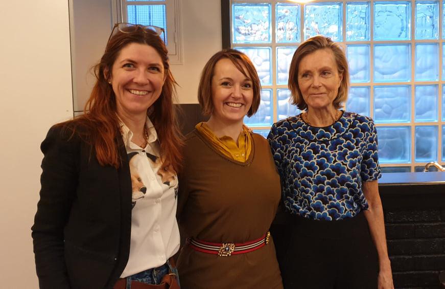 Moi, Caroline Baly et Marie de Tilly