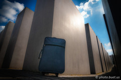 Suitcase int the Holocaust memorial