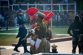 Pakistani and Indian guards at Wagah Border