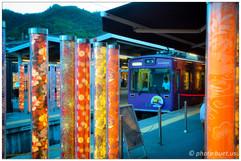 Kimono forest at Arashiyama Station