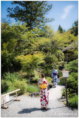 In the gardens of Kyoto