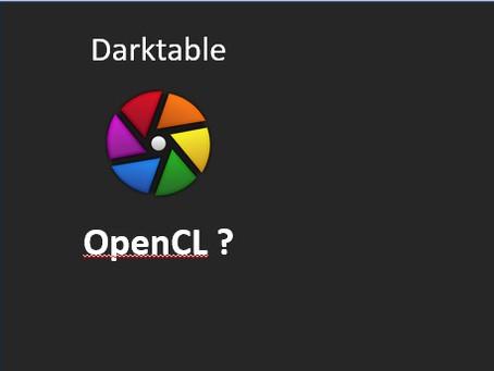 Darktable - Is OpenCL enabled?