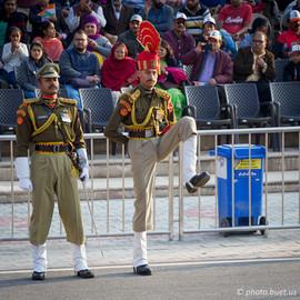 Indian guards at Wagah Border