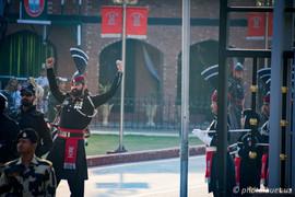 Pakistani guards at Wagah Border