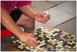 Game of Go in the street