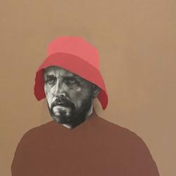 Self Portrait with pink bonnet