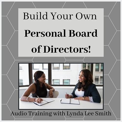 3-Day Build Your Own Personal Board of Directors Audio Prorgam
