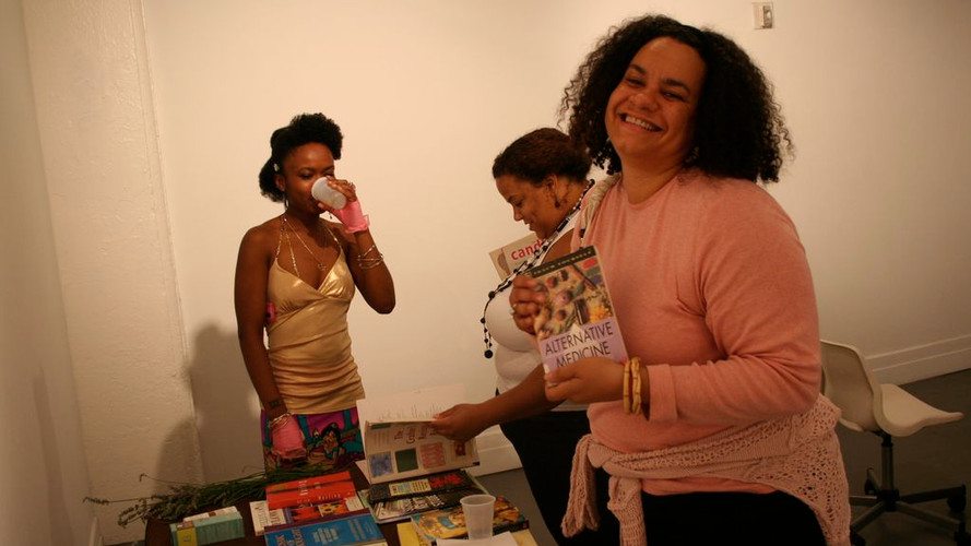 2010, Julie Novas at Self-Help Swap at A.I.R. Gallery