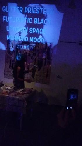 Live Collaging the Glitter Priestess Futuristic Black Utopian Space Mermaid Mood Board