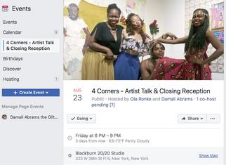 Corners - Artist Talk & Closing Receptio
