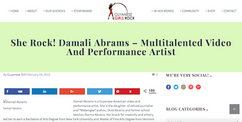 She Rock! Damali Abrams – Multitalented Video And Performance Artist
