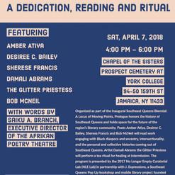 Prologue: A Dedication, Reading, & Ritual 2018