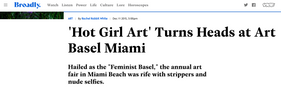 'Hot Girl Art' Turns Heads at Art Basel Miami