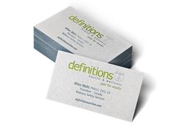 definitions Letterpress Business Cards