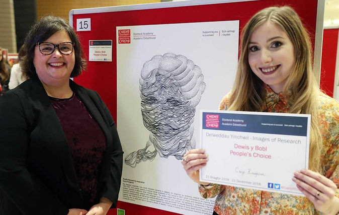 Cerys Knighton artist, Doctoral Academy Images of Research People's Choice Award Winner, Welsh art, Cardiff University, medical humanities