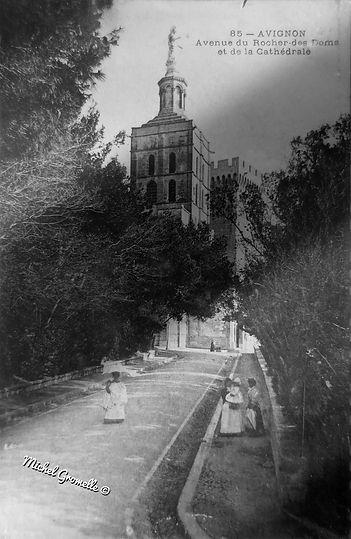 Notre Dame des Doms Palais des Papes Avignon. Cartes postales anciennes. Michel Gromelle. Avignon la cité mariale.