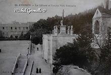 Palais des Papes. Ancien petit Séminaire Avignon . Cartes postales anciennes. Michel Gromelle. Avignon la cité mariaire