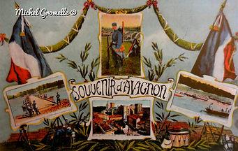 Souvenirs d'Avignon. Cartes postales anciennes. Michel Gromelle. Avignon la cité mariale.